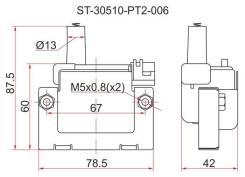 Катушка зажигания HONDA 96- на двигателя B,H,F,D SAT ST30510PT2006