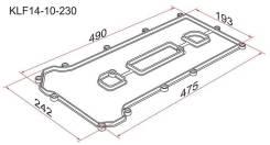 Прокладка клапанной крышки MZ LF, L3, Mazda 6/Atenza GG/GY, Premacy CP 02- KLF14-10-230 SAT KLF1410230