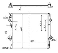 Радиатор LEXUS GX460 09 SAT TY0009GX460