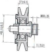 Ролик натяжителя ремня кондиционера 1KZ/2L/3L/5L/1B/15B/3B/1FZ ST-88440-60050 SAT ST8844060050