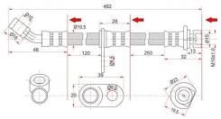 Шланг тормозной RR HONDA ACCORD/TORNEO 98-02 RH ST-01466-S0A-000