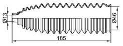 Пыльник рулевой рейки NISSAN ALMERA/QASHQA/TEANA /X-TRAIL 00- RH SAT ST482034M525