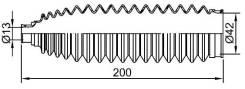 Пыльник рулевой рейки NISSAN ALMERA/QASHQA/TEANA /X-TRAIL 00- LH SAT ST482044M525