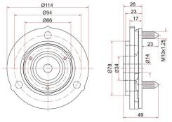Опора стойки FR TOYOTA Prado/Surf ST-48609-35030 SAT ST4860935030