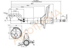 Стойка передняя TOYOTA HARRIER/KLUGER/HIGHLANDER/LEXUS RX330/350/400 03-09 RH SAT ST-48510-A9360