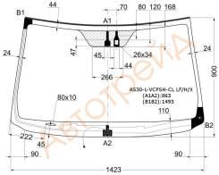 Стекло лобовое с обогревом щеток в клей без полосы TOYOTA RAV4 #CA3# 05- (дд,молдинг) XYG AS30-L-VCPSH-CL LFW/H/X