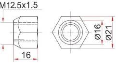 Гайка колесная открытая конус TOYOTA/MAZDA/MITSUBISHI/KIA/HYUNDAI/VOLVO ST-90049-11036 SAT ST9004911036