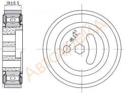 Натяжной ролик приводного ремня SUZUKI GRAND VITARA 1,6 05-/JIMNY 1,3 98 - SAT ST-49160-81A00