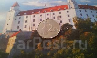 Словакия. 2 кроны 1995 года.