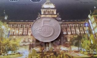 Социалистическая Чехословакия. 5 крон 1983 г. Большая красивая монета!