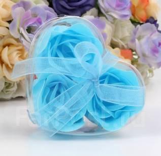 """Мыло """"Лепестки розы"""" Отличный оригинальный подарок к празднику. Голубой"""