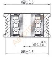 Обводной ролик приводного ремня LEXUS GS30/35/43/460/LS460 1-2UR SAT ST-16604-38020