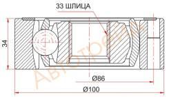 Шрус внутренний SKODA FABIA MK2 07-/OCTAVIA 04-12/SUPERB II 08-/VW COLF V 03-09/JETTA VI 11-/PASSAT SAT VW-007