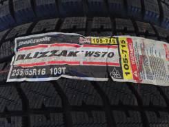 Bridgestone Blizzak WS-70. Зимние, без шипов, 2010 год, без износа, 4 шт