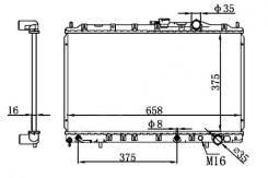 Радиатор охлаждения двигателя. Mitsubishi Space Wagon Mitsubishi RVR Двигатель 4G63