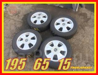 195/65 R15 Японские зимние колёса Yokohama на литых дисках. Отправка. x15 5x100.00, 5x114.30 ET50 ЦО 73,0мм.