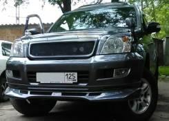 Накладка на бампер. Toyota Land Cruiser Prado, KZJ120, TRJ120W, GRJ120, VZJ120W, LJ120, RZJ120, KDJ120, GRJ120W, KDJ120W, VZJ120, RZJ120W, TRJ120, VZJ...