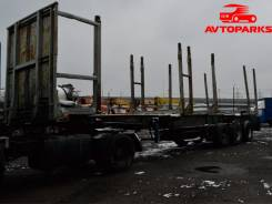 МАЗ 5432А5-324. Лесовозный полуприцеп ONCR 34- 324, 18 400 кг.