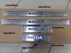 Порог пластиковый. Nissan Tiida, C11, JC11, NC11