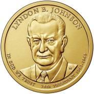 Новинка - 1 доллар США 2015 - 36 Президент Джонсон (Lyndon B. Johnson)