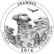 Квотер = 25 центов Парки - 2016 год , Shawnee