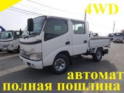 Toyota Dyna. 4WD, двухкабинник + автомат, 3 000 куб. см., 1 500 кг.