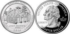 Квотер = 25 центов Парки - 2016 год , Harpers Ferry