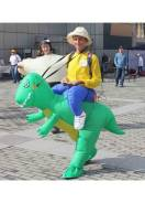 Ростовая Кукла Надувной Всадник на динозавре