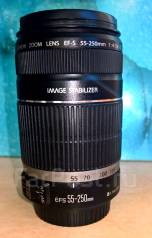 Объектив Объектив Canon EF-S 55-250 mm f/4-5.6 IS как новый. диаметр фильтра 58 мм