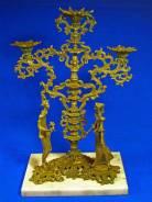 Бронзовая авторская статуэтка-подсвечник. 34 х 20 см. Автор Генберг. Оригинал. Под заказ
