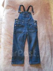 Комбинезоны джинсовые. Рост: 80-86, 86-98 см