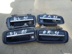 Ручка двери внешняя. Toyota Corolla, AE114, AE104, AE112, AE102, AE110, AE100, AE80, AE70, AE92, AE82, AE94, AE96, AE86, AE98, AE103, AE115, AE109, AE...