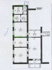 Помещение под офис, торговлю и т. д. 38 кв.м., улица Октябрьская 59б, р-н Центр. План помещения