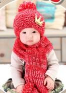 Шапка и шарф. Рост: 74-80, 80-86, 86-98, 98-104, 104-110 см