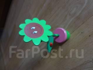 Цветок деревянный