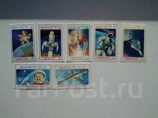 Марки Лаоса 1986г космос