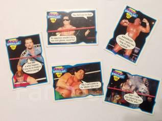 Карточки Topps Wacky Wrestling. Рестлинг. Фантики. Жвачка. Вкладыши. Оригинал