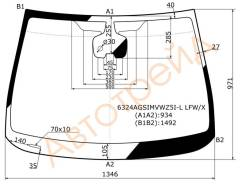 Стекло лобовое в клей(круглый дд) OPEL ASTRA J 5D HBK/WGN 12- XYG 6324AGSIMVWZ5I-L LFW/X