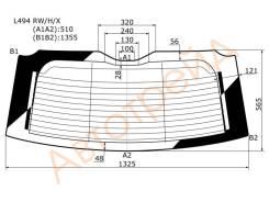Стекло заднее (крышка багажника) с обогревом RANGE ROVER SPORT 2014- XYG L494 RW/H/X