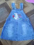 Платья джинсовые. Рост: 74-80, 80-86, 86-98 см