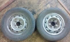 Продам два колеса R14 (штампы+резина на докат). 5.0x14 5x114.30 ЦО 74,0мм.