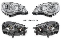 Фара. Volkswagen Polo, 9N, 9N3 Двигатели: AWY, AXU, BLT, BMD, ASY, BKY, BUD, BBU, BAY, AZQ, BBM, BBY, BTS, BNM, AUA, BME, ASZ, BZG, BJX, ATD, AXR, BBZ...