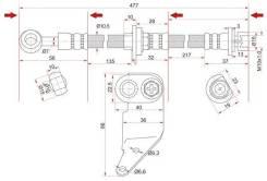 Шланг тормозной FR HONDA ODYSSEY/AVANCIER/Accord, Torneo CF#, CL#, CH# LH 99-