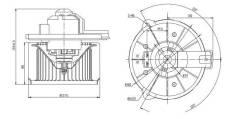 Мотор отопителя салона TOYOTA LAND CRUISER 100/LX470 TYPE A/B 98-