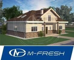 M-fresh Fortune (Посмотрите проект 1-этажного дома с мансардой! ). 200-300 кв. м., 1 этаж, 4 комнаты, бетон