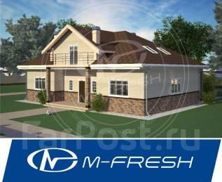 M-fresh Fortune-зеркальный (Проект дома с винтовой лестницей! ). 200-300 кв. м., 1 этаж, 4 комнаты, бетон
