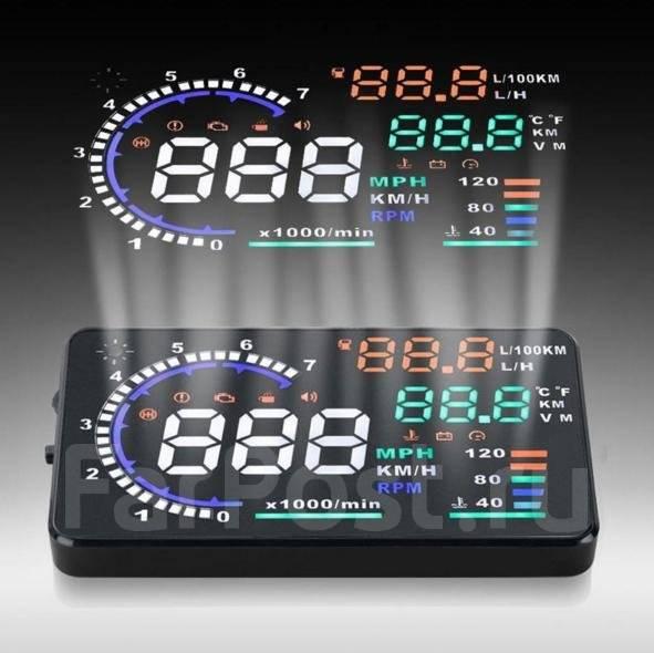 Проектор скорости на лобовое стекло HUD Head Up Display 5.5 OBD 2. Под заказ из Кемерово