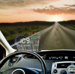 Проектор скорости на лобовое стекло HUD Head Up Display 5.5 OBD 2. Под заказ из Иркутска
