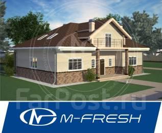 M-fresh Fortune (Готовый проект дома с жилой мансардой! ). 200-300 кв. м., 1 этаж, 4 комнаты, бетон