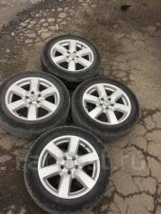 Продам колеса 215/60/17 Nissan на летней резине. 6.5x17 5x114.30 ET45 ЦО 67,1мм.
